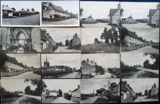 Postcards, Cambridgeshire, a selection of 30 cards inc. Guilden Morden (17) with RP's of the village