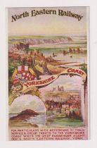 Postcard, North Eastern Railway poster advert No.2 Yorkshire Coast (vg) (1)