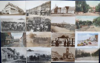 Postcards, Sussex, a selection of approx. 24 cards of Worthing, with RP's of Burlington Hotel,