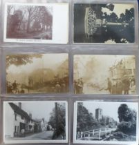 Postcards, a good collection of approx. 195 cards of Hertfordshire with a few Cambridge mainly RP'