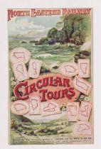 Postcard, North Eastern Railway poster advert No.3 Circular Tours (vg) (1)