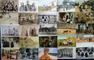 Postcards, Ethnic, a collection of approx. 80 cards showing various images of people from Africa,