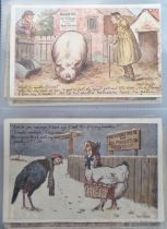 Postcards, a fine collection of approx. 75 cards advertising Molassine dog cakes, Molassine Meal for
