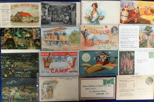 Postcards, Advertising, a mixed selection of approx. 35 UK product advertising cars inc. J B