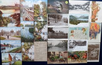 Postcards, a UK, Foreign & subject mix of approx. 70 cards inc. Great East Rail Officials (Tuck