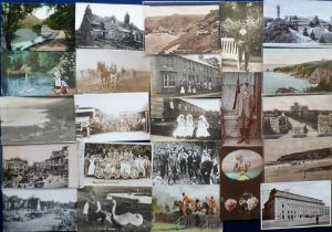 Postcards, a UK topographical and subject mix of approx. 220 cards inc. Aldershot Tattoo 1938 (