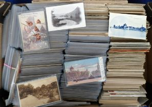 Postcards, a large quantity of approx. 2100 cards mostly UK & Foreign topographical, with a few