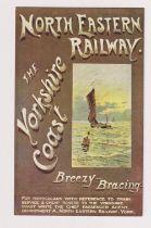 Postcard, North Eastern Railway poster advert No.4 Yorkshire Coast (vg) (1)