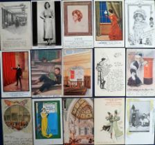 Postcards, Advertising, a selection to include Remington Typewriter Factories, Grand Bazar Rouen,