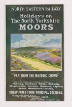 Postcard, North Eastern Railway poster advert No.8 Moorland (vg) (1)