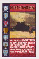 Postcard, North Eastern Railway poster advert No.5 Northumbria (vg) (1)
