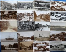 Postcards, a mainly mixed UK topographical collection of approx. 160 cards with good RP's of Bales