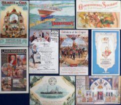 Postcards, Advertising, Oriental Carpets, Walkers Lager, Allan Royal Mail, Mustard Horse Nails, John