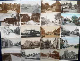 Postcards, Sussex, a collection of approx. 41 cards of Sussex villages and towns with many street