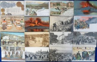 Postcards, Foreign, a collection of approx. 70 cards inc. coin card (Germany), Gruss Aus,