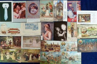 Postcards, Advertising, Household items, Food etc. to include Price's Battles (4), Pearks (4),