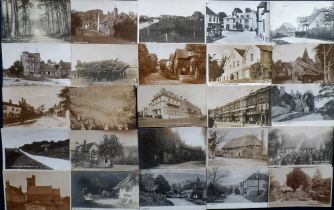Postcards, Sussex, a good selection of approx. 44 cards with many street scenes and villages. RP's