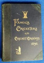 Cricket, 'Famous Cricketers & Cricket Ground 1895' edited by G W Allcock, green board covers with