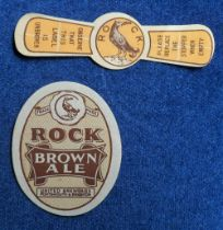 Beer labels, United Breweries Portsmouth & Brighton, Rock Brown Ale, vertical oval 62mm high, &
