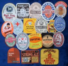 Beer labels, a group of 19 UK beer labels, various shapes, sizes and brewer's inc. Melbourn's Double