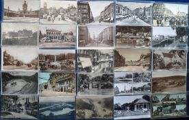Postcards, a collection of 86 sleeved cards of Bristol (26) & Somerset (60), inc. towns, village