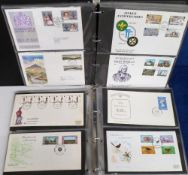Stamps, Collection of Jersey, Guernsey and Isle of Man first day covers in 2 albums. 155 covers