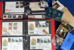 Stamps, Collection of first day covers, mainly GB 1970s/80s, collection of miniature sheets and £3