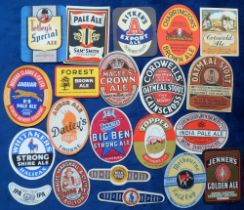Beer labels, a group of 18 plus 3 neck/stopper labels from the UK inc. a wartime label from