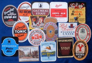 Beer labels, a collection of 15 UK labels, various shapes, sizes and brewer's inc. Beverley Bros,