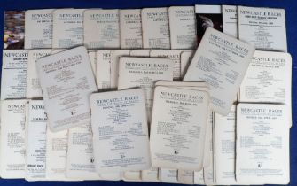 Horse Racing, Racecards, a large collection of 200+ racecards, many from Newcastle, 1950's
