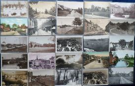 Postcards, a collection of 85 sleeved cards of Norfolk (62) & Suffolk (23), RP's and printed,