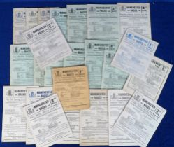 Horse Racing, Racecards, Manchester Races, a collection of 24 racecards with dates ranging between