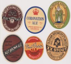 Beer labels, a selection of 6 UK labels inc. Simpkin & James Hinckley, Nut Brown Ale, Jennings