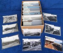Photographs/Postcards, Rail, a collection of approx. 350 RP images of UK stations arranged
