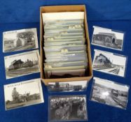 Photographs/Postcards, Rail a collection of approx. 300 images of UK rail sheds arranged