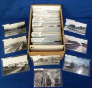 Photographs/Postcards, Rail, a collection of approx. 250 images of UK stations listed alphabetically