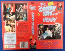 Autographs, CARRY ON - A colour VHS video sleeve for the comedy film Carry On Henry individually