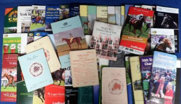 Horse Racing, Racecards, a collection of approx. 100 racecards, mostly 1990's onwards but
