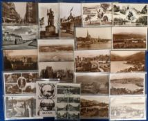 Postcards, Scotland, a selection of 120 Scottish cards, RP's (77), printed (43) all sleeved, used