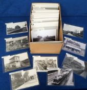 Photographs/Postcards, Rail, a collection of approx. 200 RP images of UK stations arranged
