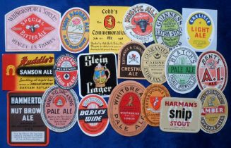 Beer labels, UK, a group of 20 labels including Cobb's 1958 Commemoration Ale to celebrate 150 years