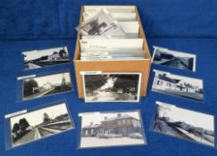 Photographs/Postcards, Rail, a collection of 400+ images of UK stations arranged alphabetically from