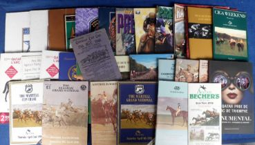 Horse Racing, Racecards, interesting collection of UK & Foreign big meeting racecards , mostly