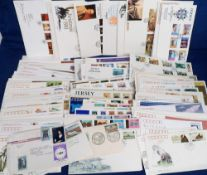 Stamps, Collection of first day covers, including GB, Mauritius, China and Jersey. 100s