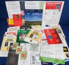 Cricket, Test matches, a selection of England Test Match items 1980's onwards for matches v New