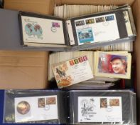 Stamps, Collection of GB first day covers, 1950s-modern, and mint PHQ cards, 100s