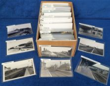 Photographs/Postcards, Rail, a collection of approx. 300 RP images of UK stations arranged