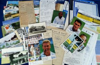 Cricket, a mixed selection inc. approx. 80 score cards 1939 onwards inc. Middlesex v West Indies
