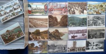 Postcards, a collection of approx. 450 sleeved UK topographical and subject card mix inc. street