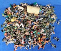 Plastic Toy Soldiers and Figures, many nations, many poses, Britain's, Timpo, Crescent Toys, Lone